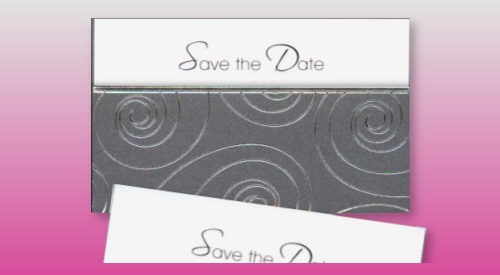 Trendige Save the date Karte