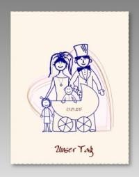 Besondere Einladungskarte Für Die Zweite Hochzeit