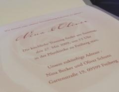 Hochzeitseinladungen selber drucken: