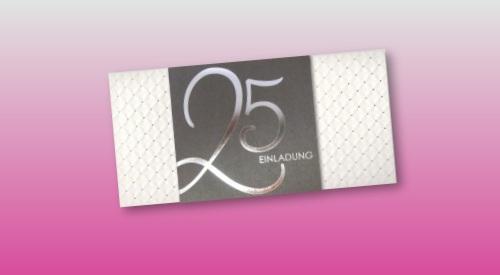 Einladungen zum 25 jährigen Ehejubiläum