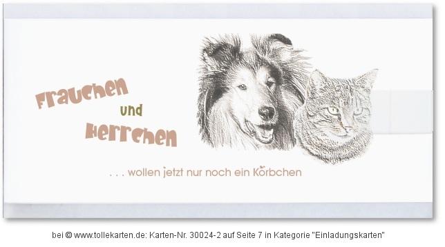 Hochzeitseinladungskarte Mit Dem Lieblings Haustier: Klick Vergrößert Die  Hochzeit Einladung