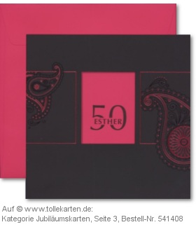 Geburtstagseinladung zum 50.: