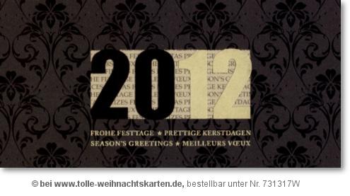 hochwertige geschäftliche Neujahrskarte 2012