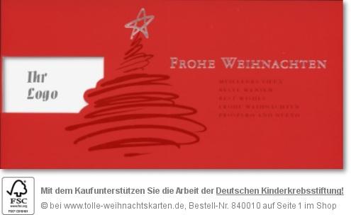 geschäftliche Weihnachtskarten - Firmeneindruck mit Logo