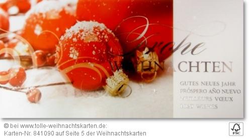 Schöne Weihnachnachtskarten mit FSC Zertifizierung: