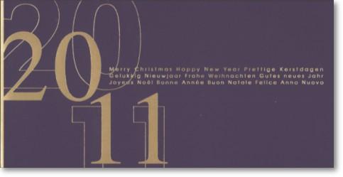 Moderne Neujahrskarten: