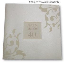 Einladungskarte zum 40. Geburtstag: