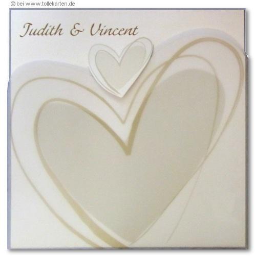 Schöne Einladung Hochzeit Mit Kleinen Und Großen Herzen: