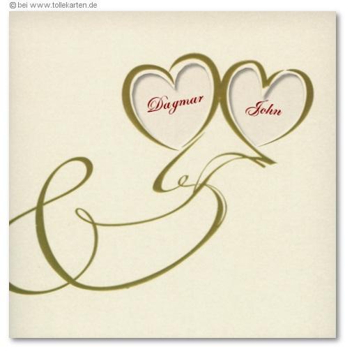 Einladung Zur Hochzeit Mit Ausgestanzten Herzen: