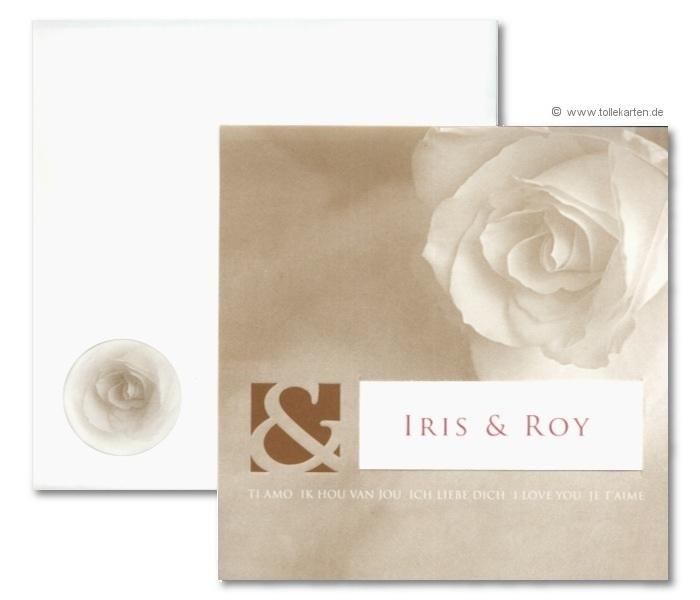 Einladung Zur Hochzeit Mit Besonderem Kuvert: