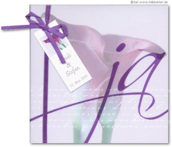 Einladung zur Hochzeit mit Calla  Einladungskarten