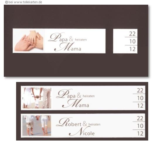 Elegant Einladungskarten Mit Drei Bildstreifen