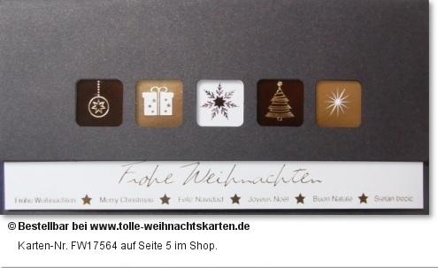 Hochwertig und modern - internationale Weihnachtskarte: