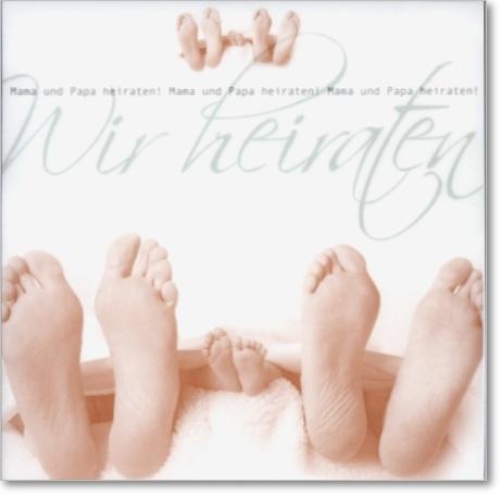 Unsere Hochzeitskarten für Paare mit Nachwuchs