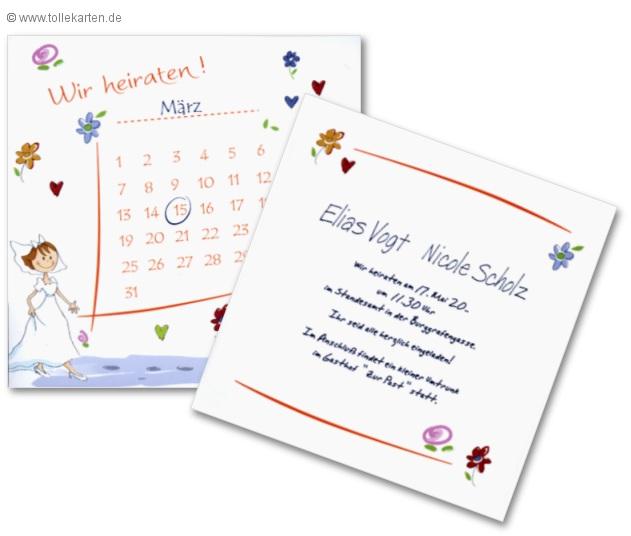 Hochzeitstag – Einladungskarten