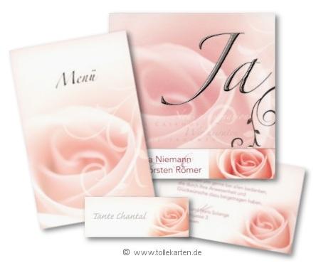 Hochzeitskarten Im Set Mit Rose Hochzeit Und Heiraten