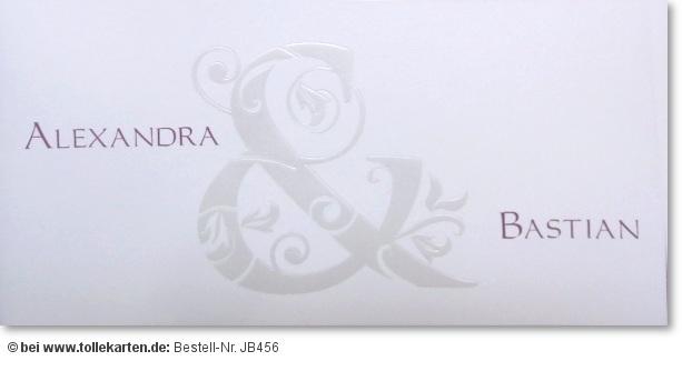 Schlichte Hochzeitseinladung In Weiß U2013 Einladungskarten, Einladungsentwurf