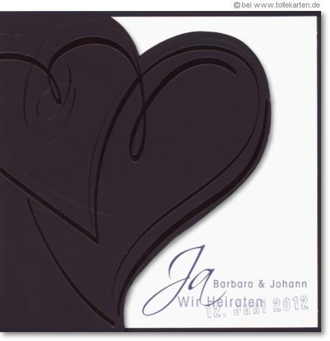 Neue Hochzeitseinladung in schwarz  Einladungskarten