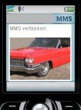 Rotes Cadillac Cabrio per MMs: