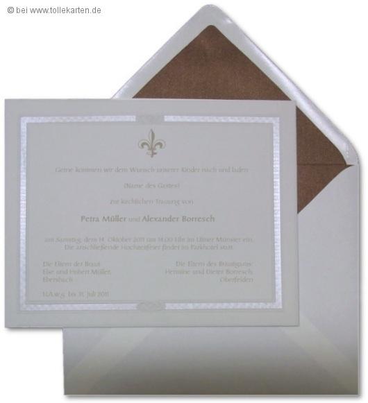 Toll Einladungskarte Zur Hochzeit Im Royalen Stil: