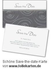 Schöne Save the Date Karte zur Hochzeit von tollekarten.de: