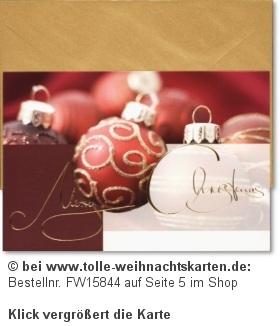 Weihnachtskarten 2012 in stimmungsvoller Aufmachung: