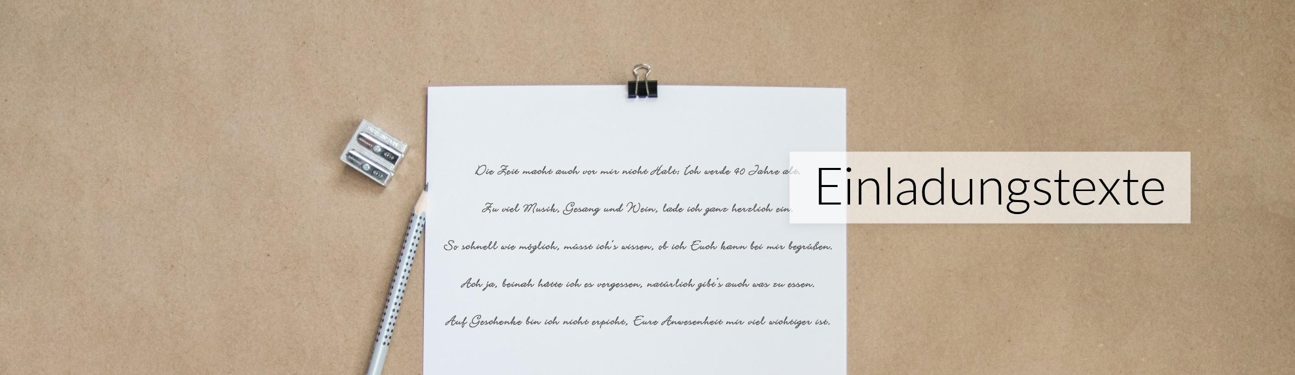 Einladungstexte Dankestexte Gedichte Textvorschläge Zur