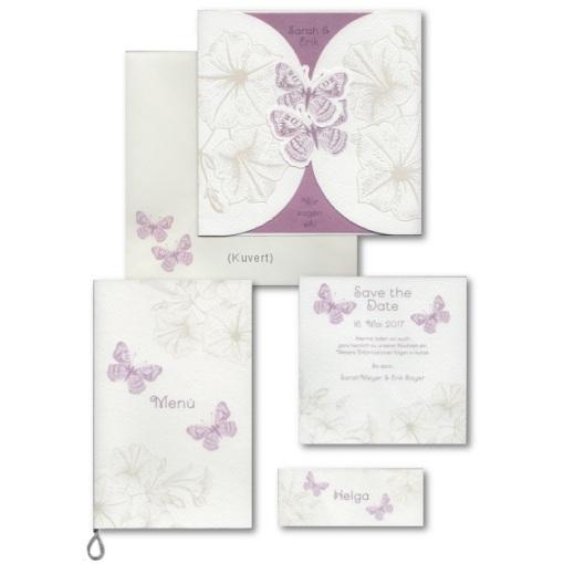 Wonderful Einladungskarten Set Hochzeit #10: Hochzeitskarten Serie Mit  Calla; Schmetterling Serie