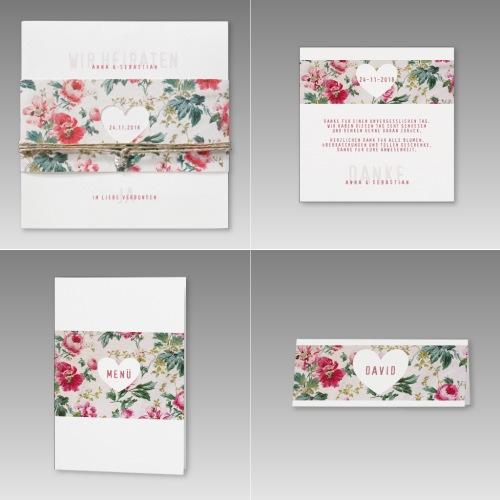 Hochzeitskarten mit Blumen, Serie