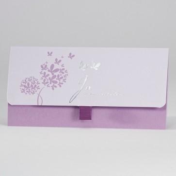 Stilvolle Hochzeit Einladung, violett