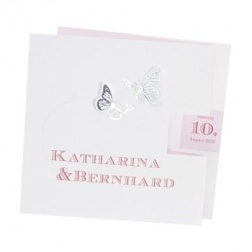Preiswerte Hochzeit Einladungskarte, Schmetterlinge