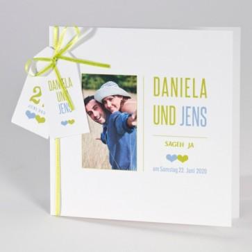 Hochzeit Einladundungskarte individuell mit Foto gestalten