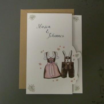 Hochzeitseinladung für die Trachtenhochzeit