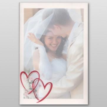 Foto Dankeskarte Hochzeit mit verschlungenen Herzen