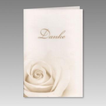 Dankkarte zur Hochzeit mit Rose