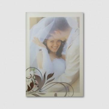Dankeskarte Hochzeit mit Silberornament für Hochzeitsfoto