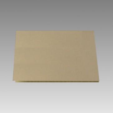 Blankokarte in goldmetallic, klappbar
