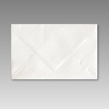 Spitzklappen-Kuvert in weißmetallic