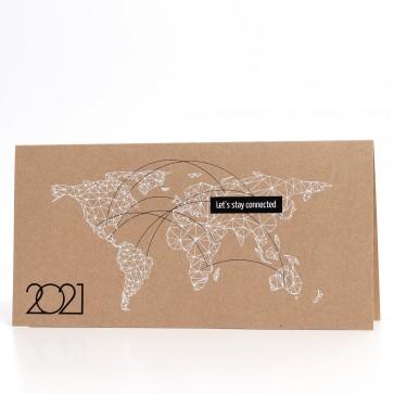 Weiße Weltkarte - 55800