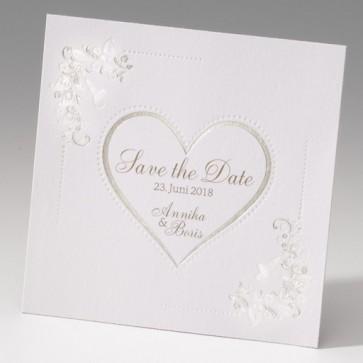 Romantische Save the date Karte mit Herz