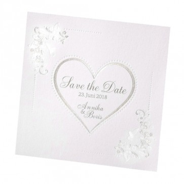 Romantische Save the date Karte mit Herz