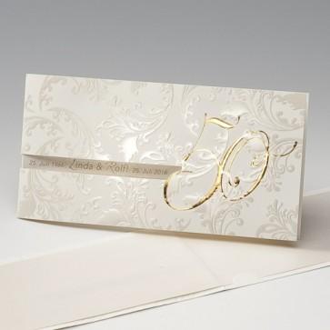 Edle Einladungskarte Goldene Hochzeit