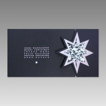 Geschmackvolle Weihnachtskarte, blau