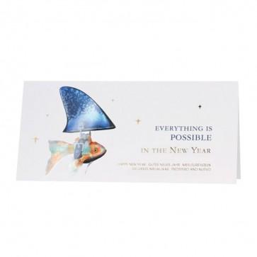 Futuristische Neujahrskarte