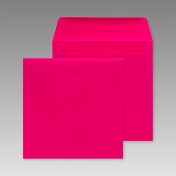 Pinkfarbener Umschlag, quadratisch