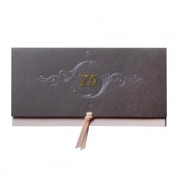 Edle Einladung zum 75. Geburtstag mit Schleife