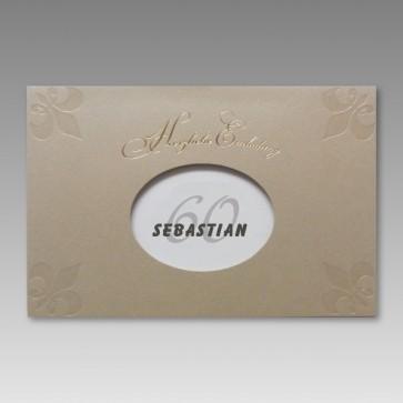 Einladung zum 60. Geburtstag in attraktivem Design