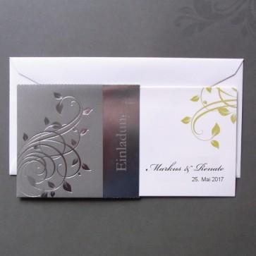 Ausgesprochen schicke Einladungskarte zur Silberhochzeit