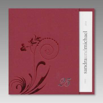 Einladungskarte zur Silberhochzeit