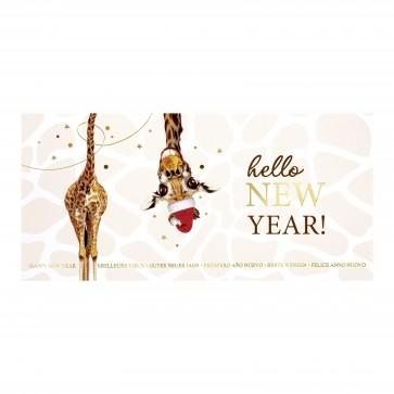 Giraffe mit Weihnachtsmütze - 80007